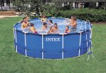 Intex vízforgatós fémvázas medence 457x122cm Komplett szett. Prism Frame