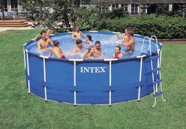 Intex vízforgatós fémvázas medence 457x122cm Komplett szett.