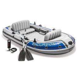 Intex Excursion 4  Négyszemélyes Csónak , evező , pumpa