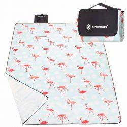 PIKNIK STRAND takaró 130X170cm KEMPING SZŐNYEG Flamingó