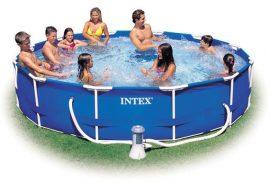 INTEX medence 366x76cm  fémvázas + vízforgató