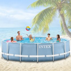Intex vízforgatós medence 457 x 84 cm Komplett szet .Prism Frame