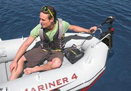 Intex  gumicsónak szett Mariner 4 + Elektromos csónakmotor 40lbs + motortartó